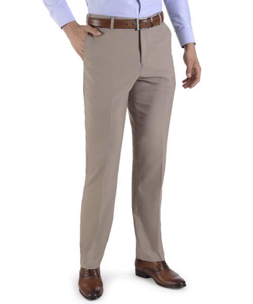 010067034067-01-Pantalon-de-Vestir-sin-Pinzas-Cintura-Ajustable-Classic-Fit-Beige-yale