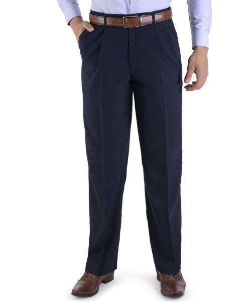 010085034919-01-Pantalon-de-Vestir-Poliester-Viscosa-Con-Pinzas-Cintura-Ajustable-Fit-Tradicional-Marino-yale