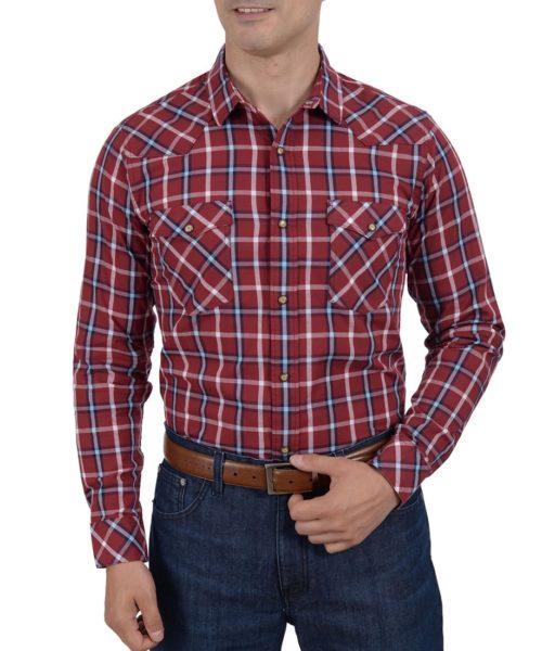 041601VQ8634-01-Camisa-Vaquera-Manga-Larga-Cuadros-Modern-Fit-Vino-yale