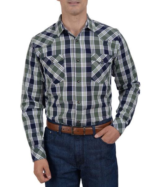041601VQ8695-01-Camisa-Vaquera-Manga-Larga-Cuadros-Modern-Fit-Verde-Olivo-yale