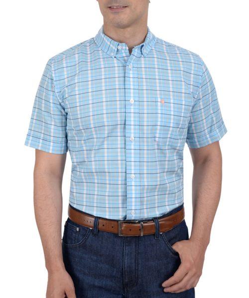 042203431510-01-Camisa-Casual-Manga-Corta-Botton-Down-Cuadros-Modern-Fit-Azul-yale