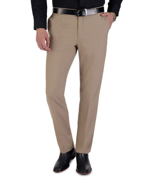 010078112167-01-Pantalon-de-Vestir-Sin-Pinzas-Modern-Slim-Fit-Cintura-Ajustable-Kaki-yale