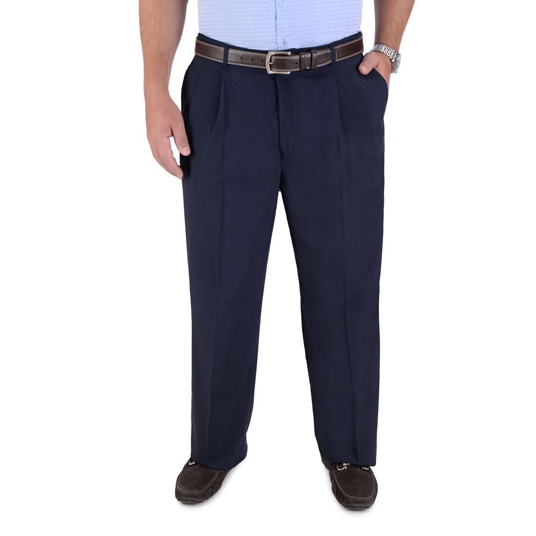 010086034919-01-Pantalon-de-Vestir-Poliester-Viscosa-Con-Pinzas-Cintura-Ajustable-Fit-Tradicional-Marino-yale