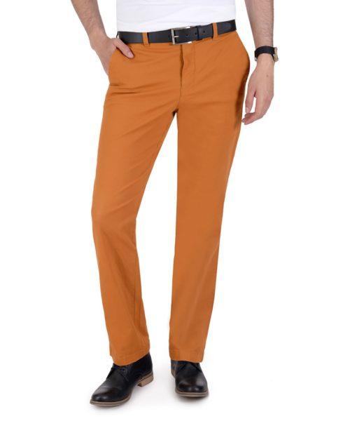 010744097755-01-Pantalon-Casual-Sin-Pinzas-Modern-Fit-Con-Elastano-Ocre-yale