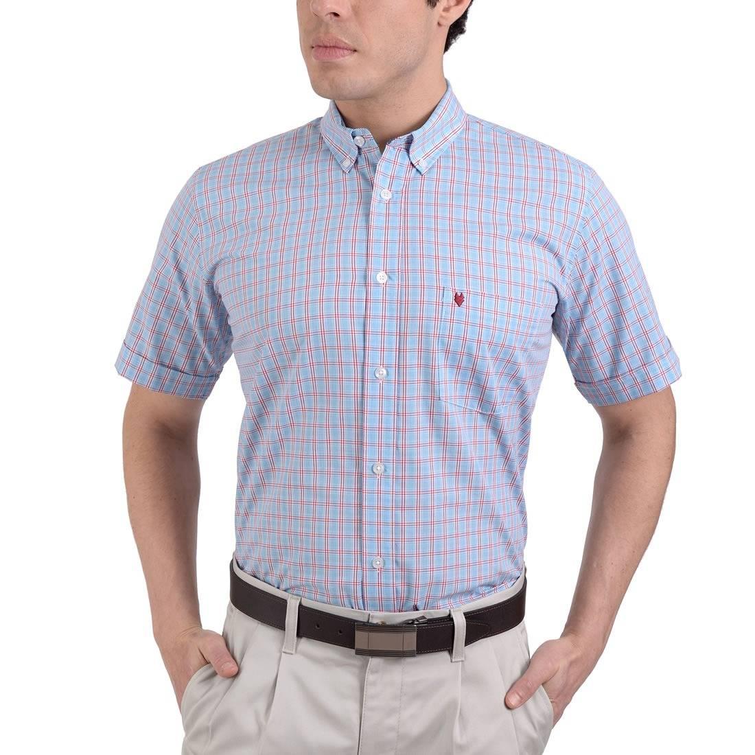 042204431223-01-Camisa-Casual-Manga-Corta-Modern-Fit-Azul-Francia-yale