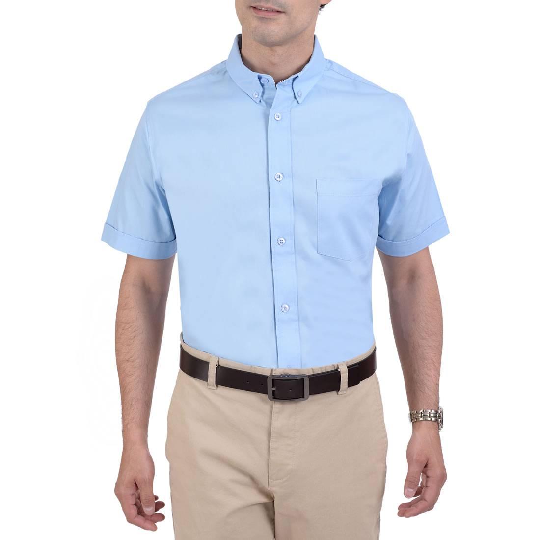 042331381711-01-Camisa-Manga-Corta-classic-Fit-Azul-Cielo-yale