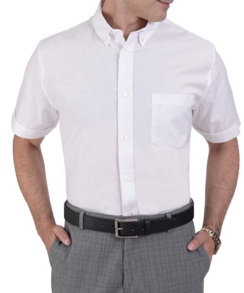 042334321602-01-Camisa-Manga-Corta-Tela-Oxford-Classic-Fit-Blanco-yale