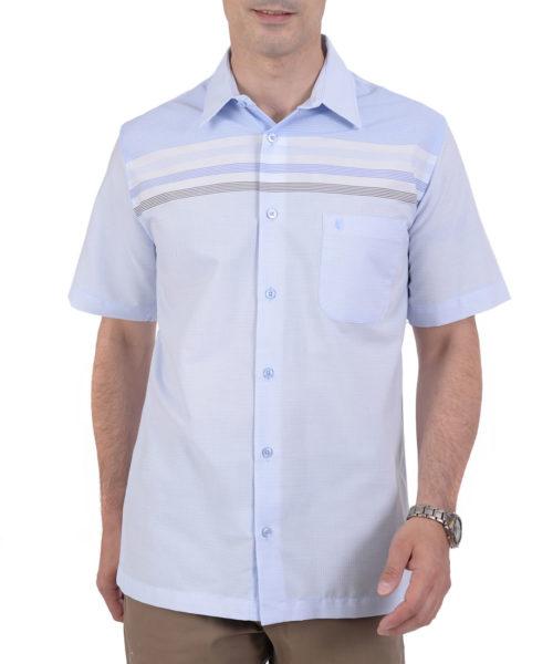 042379433110-01-Camisa-Casual-Manga-Corta-Con-Botton-Down-Classic-Fit-Gris-yale